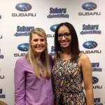Holly and Nicole at Subaru of Gwinnett Studio