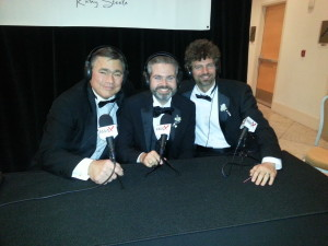 Booth 61 at Digital Ball 2014 with Charles Brian Quinn and Aaron Hillegass 5 3 2014